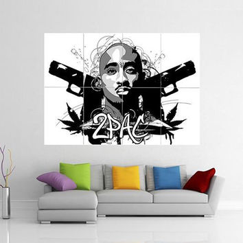Tupac Giant Wall Art Poster