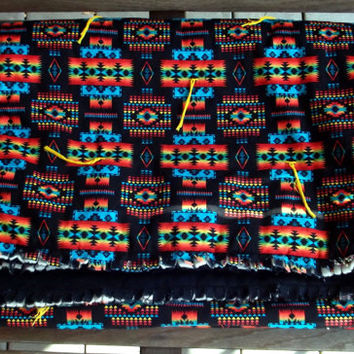 "Mexican blanket quilt, ""Totem Pole"""