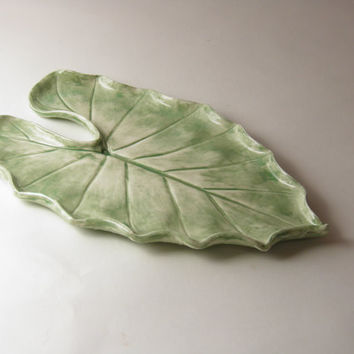 tropical leaf platter
