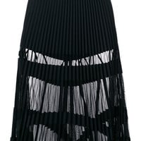 Versace Sheer Panelled Pleated Skirt - Farfetch