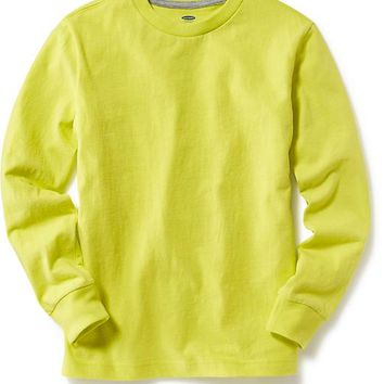 Old Navy Boys Long Sleeve Crew Neck Tee
