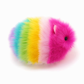 Girly Rainbow Guinea Pig Stuffed Animal Plush Toy
