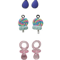 Blackheart Teardrop Candy Earring Set