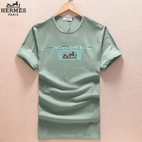 Hermes Fashion Casual Shirt Top Tee-4