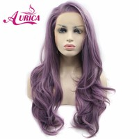Aurica Ombre Purple Heat Safe Synthetic Hair Lace Front Wig For Women