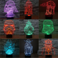 3D Decor  LED Star Wars
