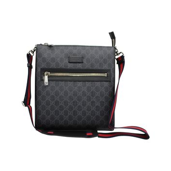 GUCCI Men's GG Supreme Small Messenger Bag