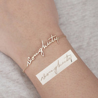 20% OFF - Signature bracelet / Actual handwriting bracelet / Personalized Handwriting Bracelet / Name bracelet / Silver bracelet - HB03