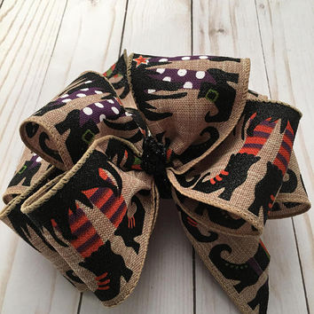 """Double Stacked Bow, Boutique Hair Bow, Infant Bow, Hair bows for Girls, Halloween Bow, 4"""" Double Hairbow, Large Hair Bow, Fall Bow"""