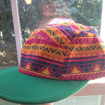 Colorful Aztec print SnapBack by WildEdge on Etsy