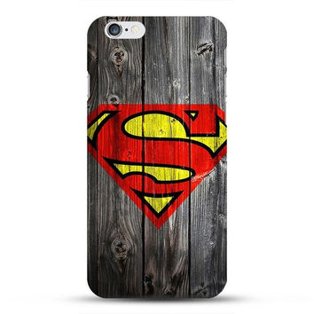 Superman Wood Look Phone Case For iPhone 7 7Plus 6 6s Plus 5 5s SE