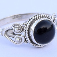 Black Onyx Stone Ring 925 Sterling Silver Ring Black stone Ring stone Ring Size US 5 6 7 8 9 10 11 12
