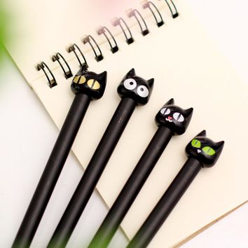 0.5mm Cute Kawaii Cat Gel Pen School Office Writing Supplies Korean Stationery Japanese For Kids Boys Girls Student Gift