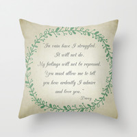 Ardently Throw Pillow by Mockingbird Avenue