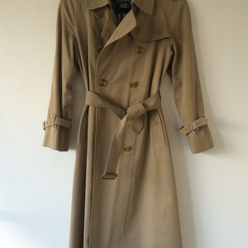 Burberrys' Vintage Camel Colored Trench Coat