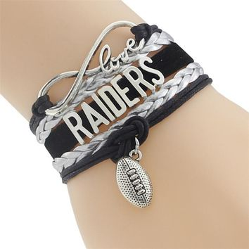 Infinity Love Raiders Football Team Bracelet Customize Oakland Sport wristband friendship Bracelets