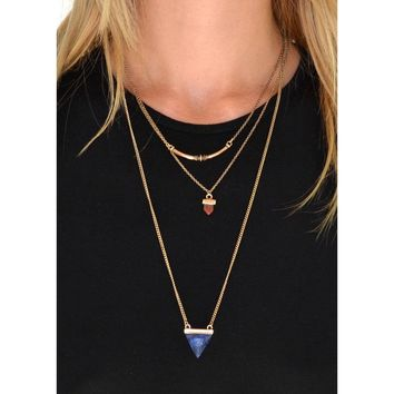 Florence Layered Stone Necklace