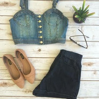 Clean Jean Crop Top