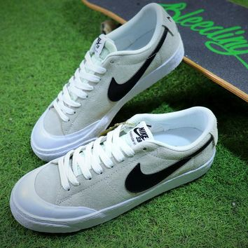 New Nike Blazer Sb Grey Black White Plate Shoes - Best Online Sale