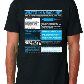"""What's in a Vaccine"" Unisex T-Shirt (Organic Cotton)"