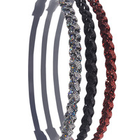 Glitter Braided Headwrap Trio | Wet Seal