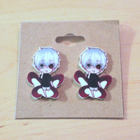 Kaneki Ken With his Kagune Tokyo Ghoul Anime Stud Earrings