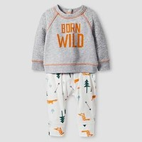 Baby Boys' 2-Piece Born Wild Set Baby Cat & Jack™ - Heather Grey : Target