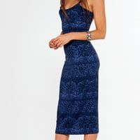 farrah dress indigo chantilly