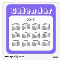 2016 Blue Berry Calendar by Janz Wall Decal