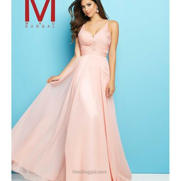 Preorder - Mac Duggal 65522L Blush Pink Elegant Ruched Sweetheart Gown 2016 Prom Dresses