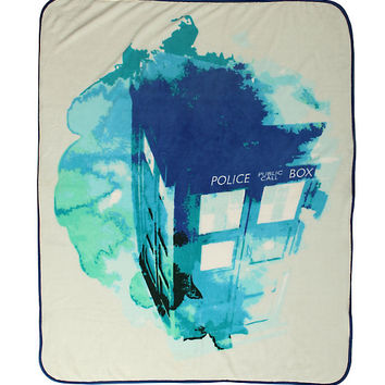 Doctor Who TARDIS Watercolor Throw