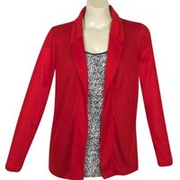 Plus Size Red City Blazer