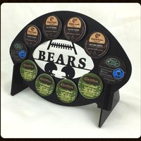 Chicago Bears Football 10 K Cup Holder and Coffee Pod Display