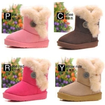 Winter Warm Kid's Girl's Snow Ankle Boots Cotton Children Shoes = 1930506820