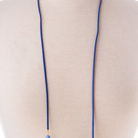 Blue Sienna Layered Choker Necklace