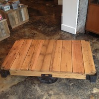 Reclaimed Cart Coffee Table