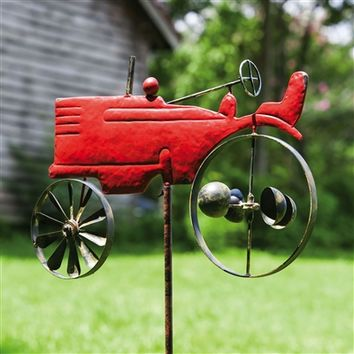 SheilaShrubs.com: Vintage Tractor Kinetic Garden Stake 490788 by Evergreen Enterprises: Garden Stakes & Balancers