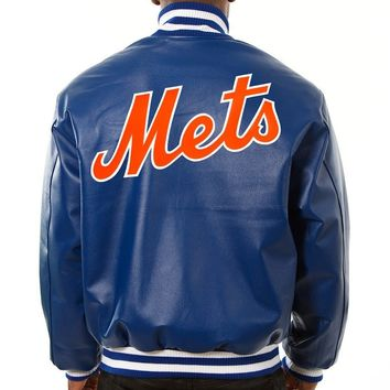 New York Mets mens all leather jacket