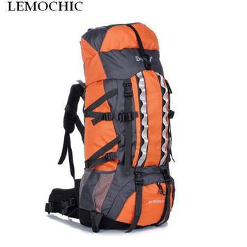 LEMOCHIC 100L adjustable waterproof Mountaineering rucksack Sports Travel Bags Outdoor Camping Hiking fishing Climbing backpack