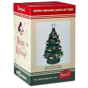 Disney Parks Retro Ceramic Light-Up Christmas Tree New with Box