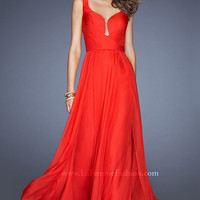 Floor Length Sleeveless La Femme Dress