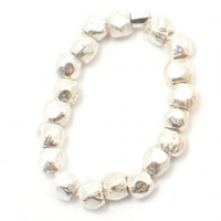 Silver Nugget Stackable Ring