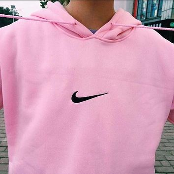 Nike wind easing embroidery hooded couples who clothes men and women-1