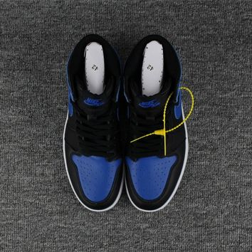 NIKE MEN'S  air jordan 1 retro high og Black Blue