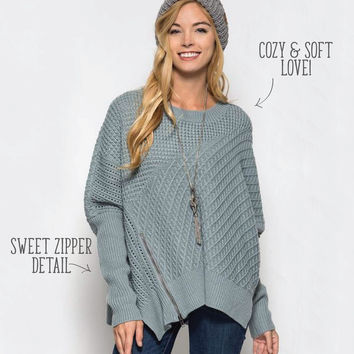 The Slouchy Sage Sweater