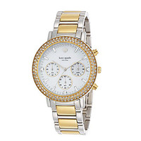 kate spade new york Pave Gramercy Grand Two-Tone Chronograph Watch - T