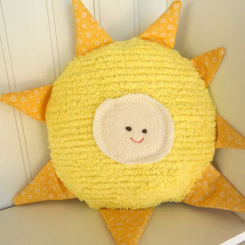 Waldorf Toy, Eco Kids Toy, Sun,, Natural, Eco-Friendly Pillow Toy Doll, Sunshine