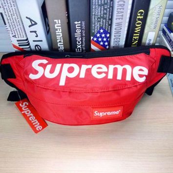 DCCKUNT Hot Unisex Supreme Print Zipper Chest Waist Pouch Belt Wallet Bags