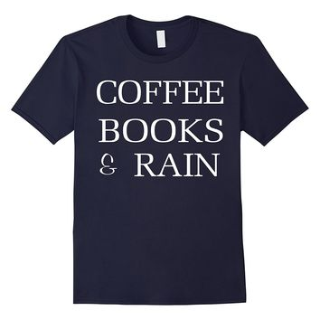 Crew Neck T-shirt|Coffee Book & Rain