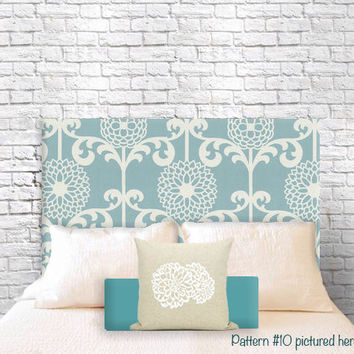 Customized Hanging Headboards.  Choose your pattern and a shape. Made to Order.